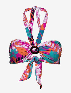 Ring Front Bandeau - bikini overdele - ultra pink