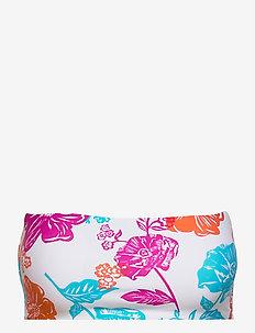 Oasis Floral Tube Top - bikini bandeau - white