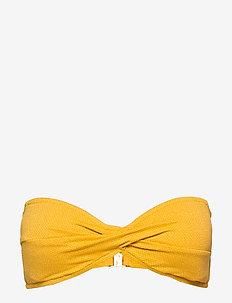 Twist Bandeau - bikinitops - saffron