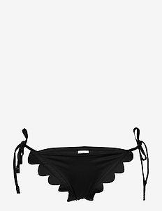 Petal Edge Brazilian Tie Side - bikini bottoms - black