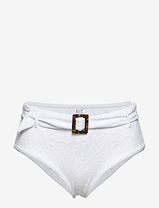Wide Side Retro - bikini hosen - white
