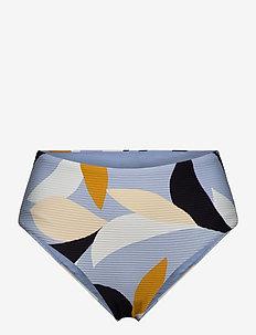 Aloha High Waisted Pant & Cheeky Bottom - bikini underdele - steel blue