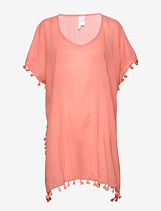 Amnesia Kaftan - beachwear - vintage coral