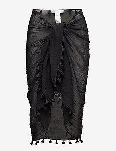 Cotton Gauze Sarong - strandtøj - black