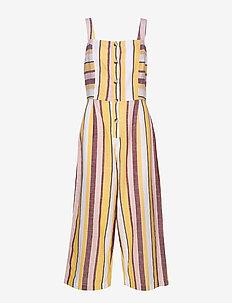 Button Up Stripe Jumpsuit - MULTI