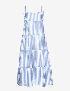 Stripe Tiered Dress - stroje plażowe - chambray