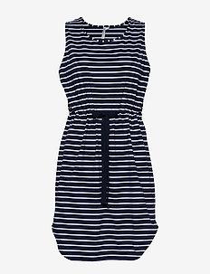 Vacay Tank Dress - strandtøj - nvy/wht st