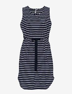 Vacay Tank Dress - strandkläder - nvy/wht st