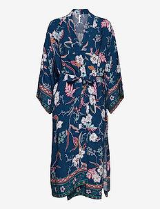Balinese Retreat Kimono Robe - beachwear - peacock