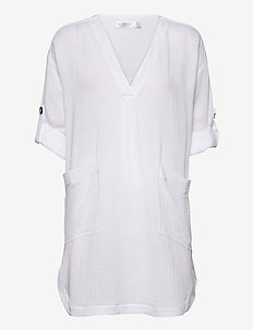 Beach Edit Essential Cover Up - strandtøj - white