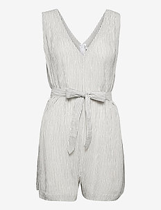 Waves Playsuit - jumpsuits - white