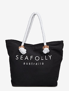 Carried Away Ship Sail Tote - shoppers - black