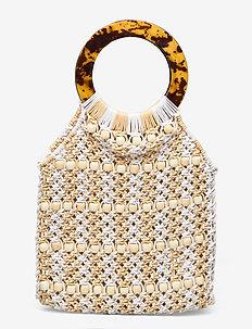 Beaded Crochet Bag - beachwear - multi