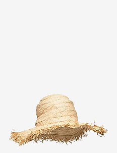 Fringed Beach Hat - kapelusze - natural