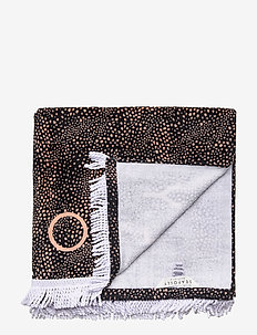 Safari Spot Towel - strandhåndklær - black
