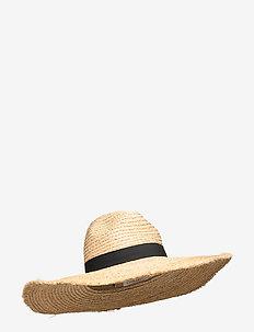 Raffia Panama Hat - strandkläder - natural