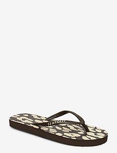 Leopard Print Thong - strandkläder - khaki