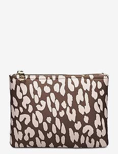 Leopard Print Bikini Bag - strandtøj - khaki