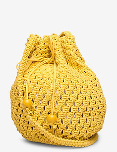 Carried Away Crochet Tote - bucket-vesker - saffron