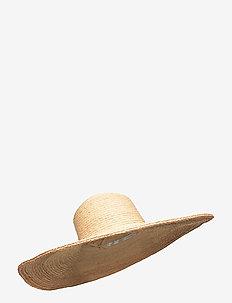 Shady Lady Contrast Stitch Oversize Hat - stråhattar - natural