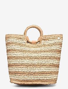 Carried AwayStripe Beach Bag - strandmode - natural