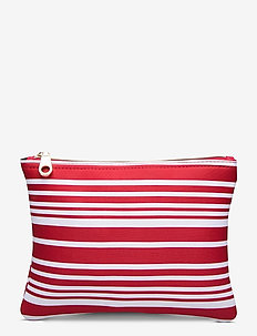 Carried Away Classic Stripe Bikini Bag - toilettassen - chilli