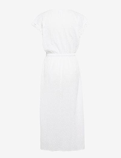 Seafolly Textured Cotton Maxi Kaftan- Uima-asut White