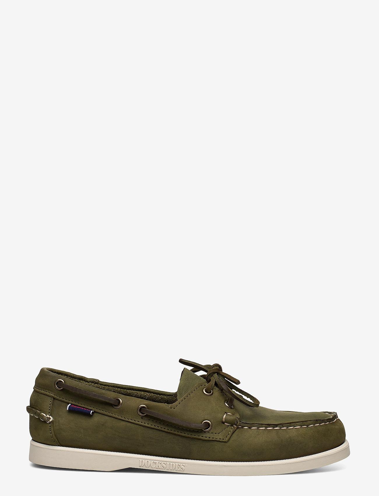 Sebago - Docksides Crazy H - boat shoes - green military