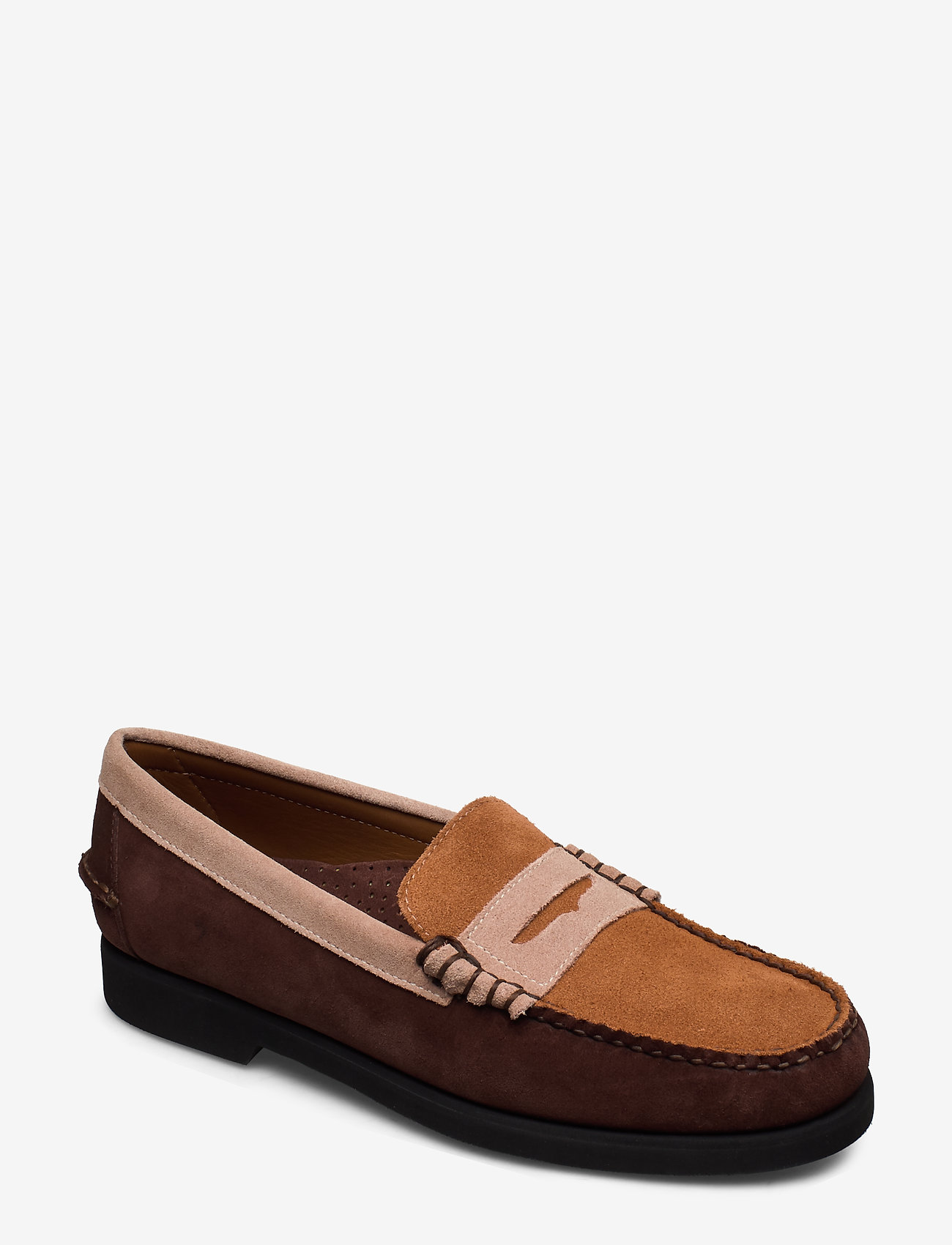 Sebago - Dan Suede Tricolor Polaris - loafers - dk brown/taupe/cogna - 0