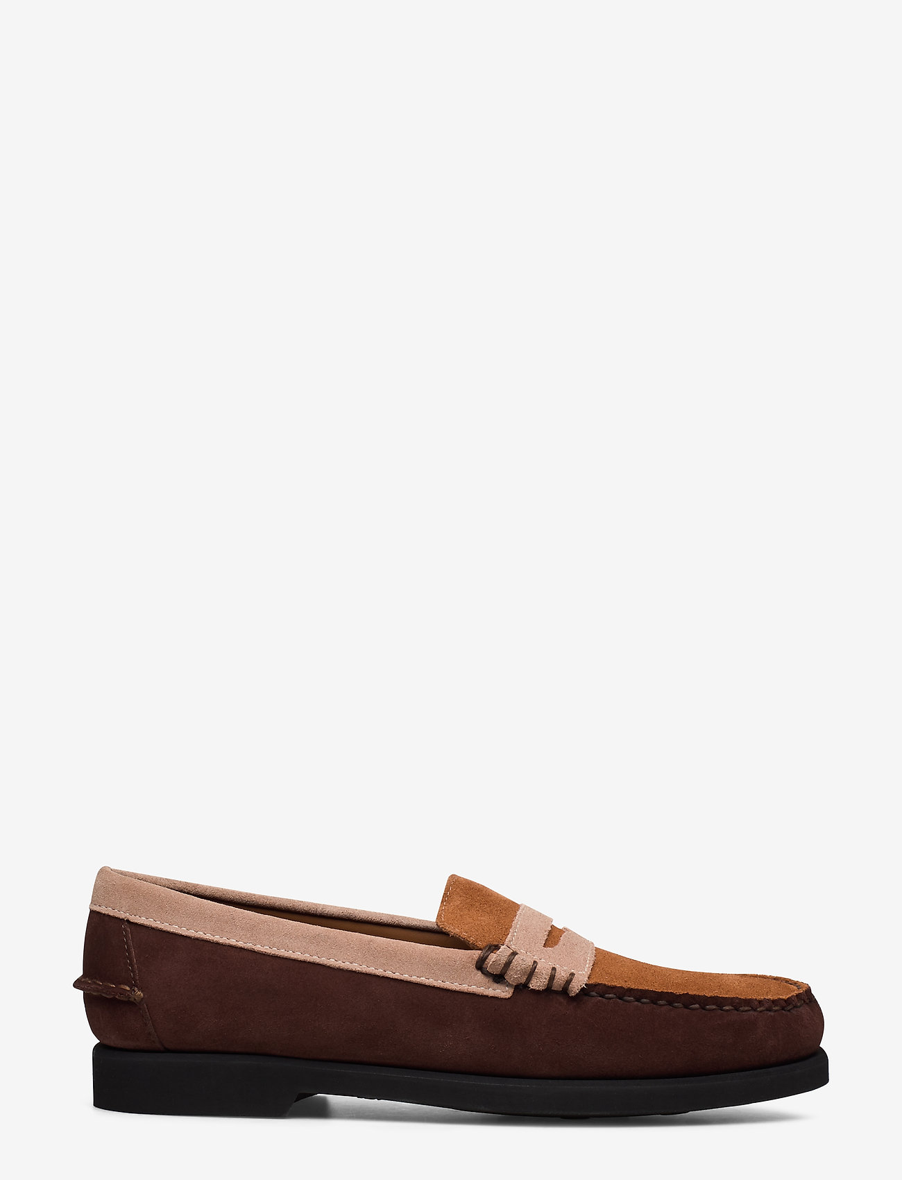 Sebago - Dan Suede Tricolor Polaris - loafers - dk brown/taupe/cogna - 1