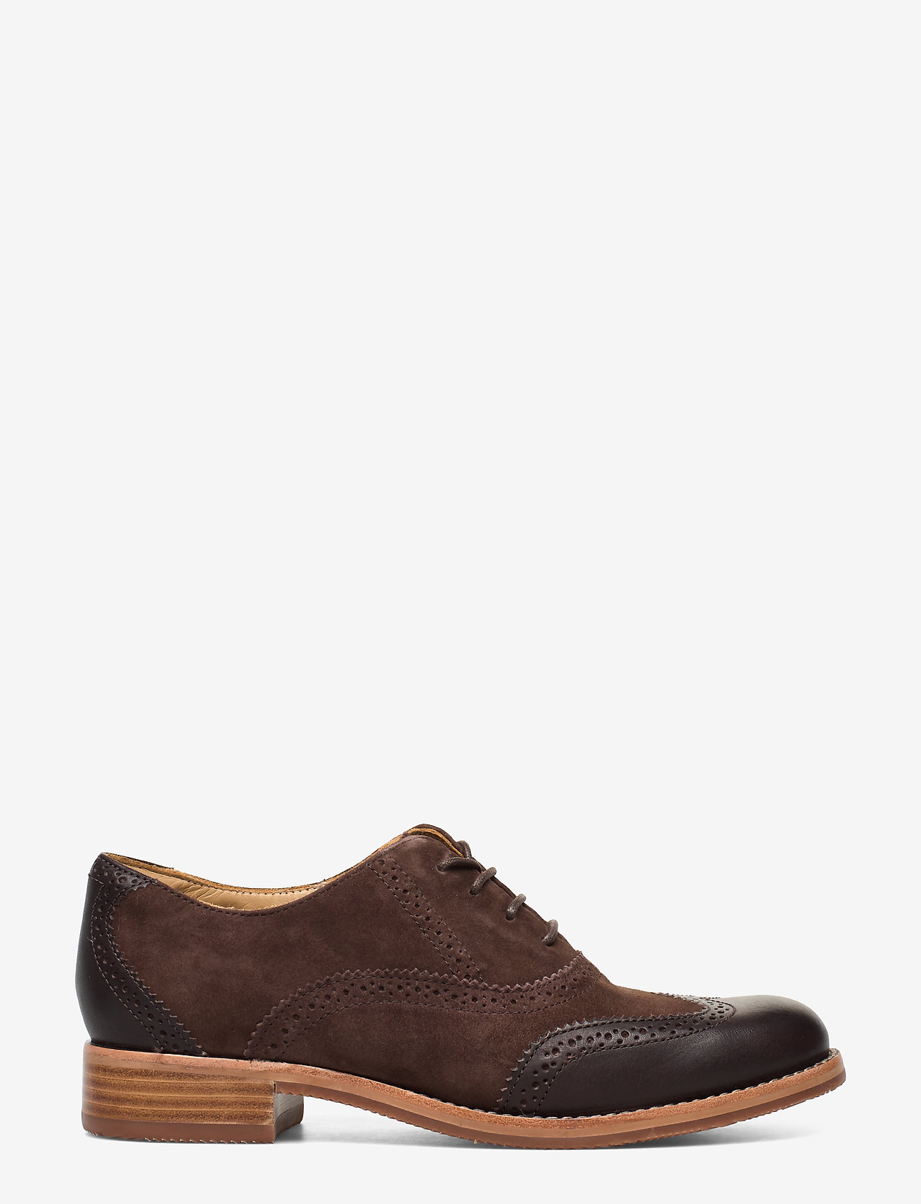 Sebago - Claremont Brouge - buty sznurowane - brown suede/leather - 1