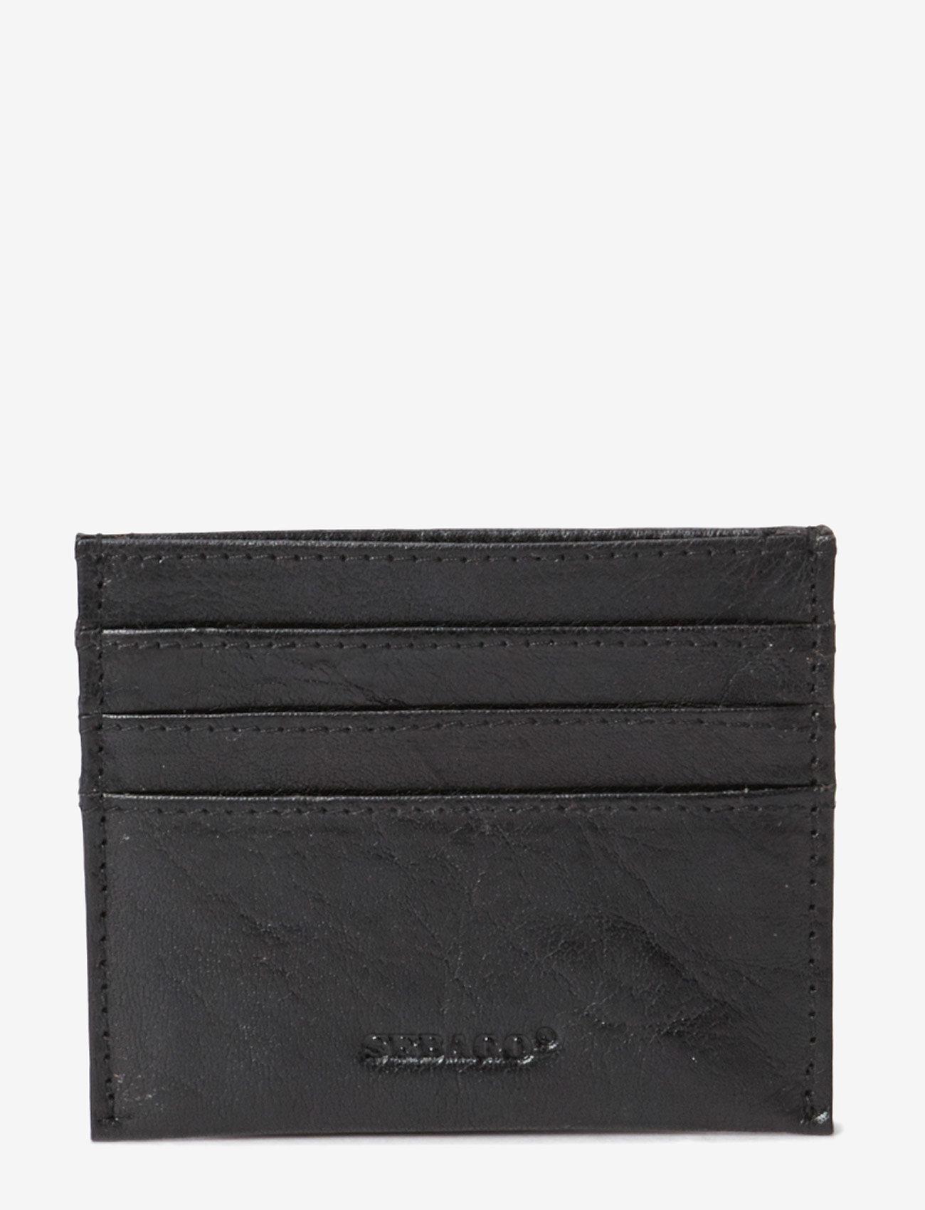 Sebago - Leather Card Holder - naudas maki un karšu maki - black - 0