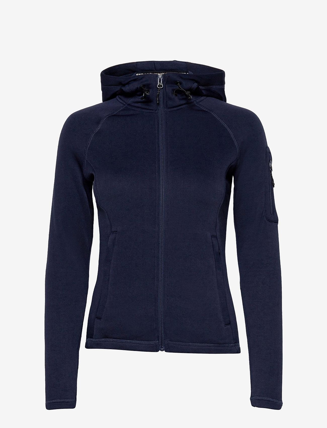 Sebago - Performance W Tech Fleece Zip - hættetrøjer - dark grey - 0