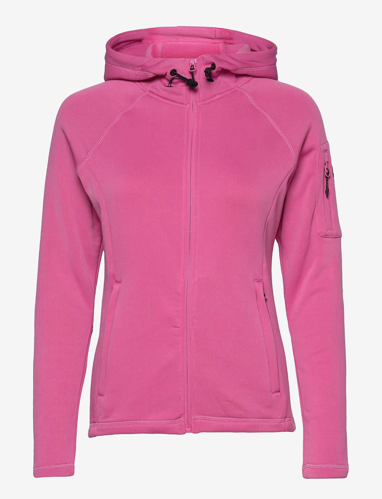 Sebago - Performance W Tech Fleece Zip - hættetrøjer - sugar pink - 0