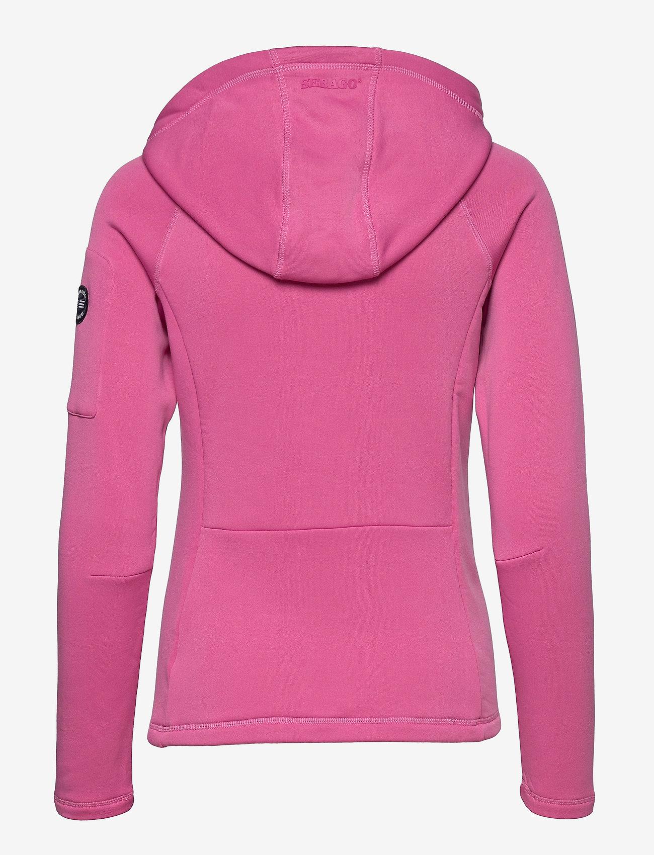 Sebago - Performance W Tech Fleece Zip - hættetrøjer - sugar pink - 1