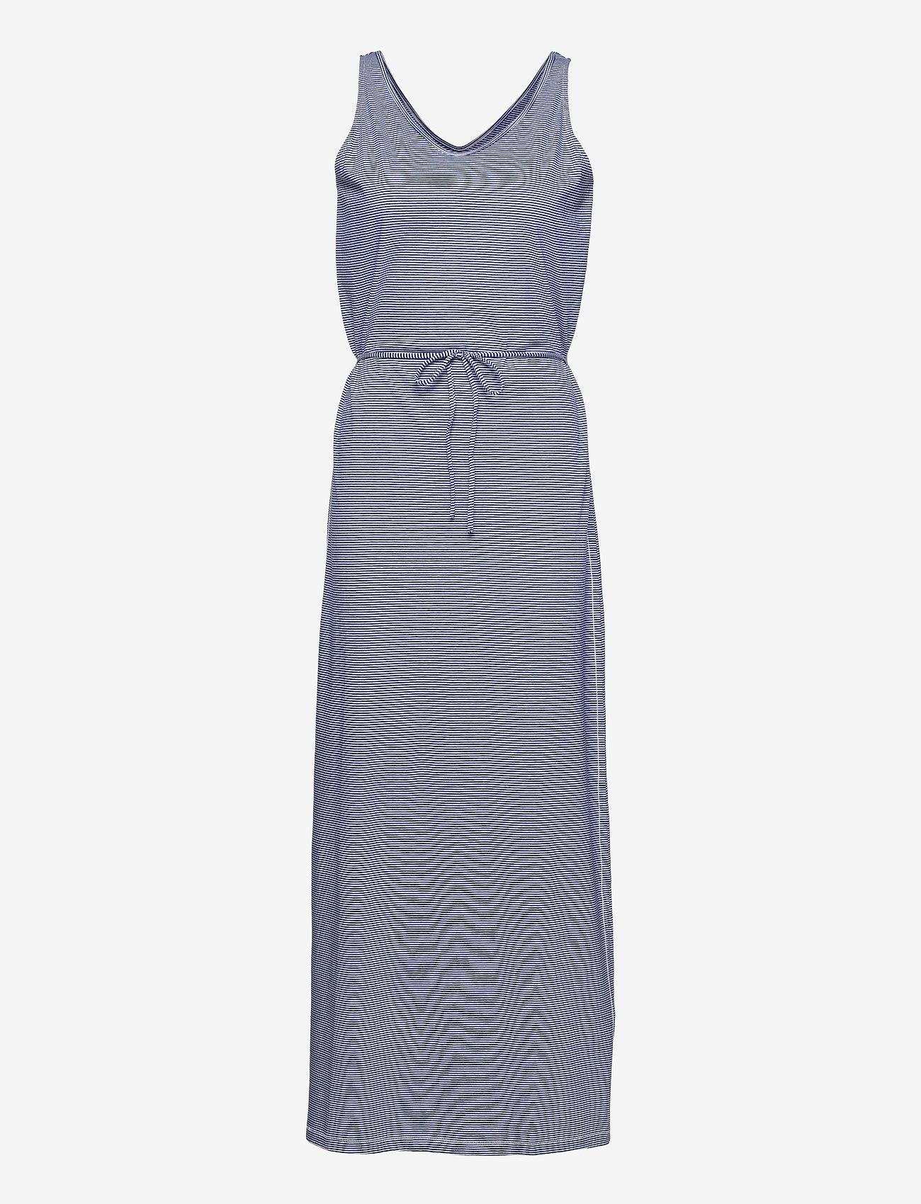 Sebago - DKS Linen Jersey Maxi Dress - sommerkjoler - blue/offwhite - 0