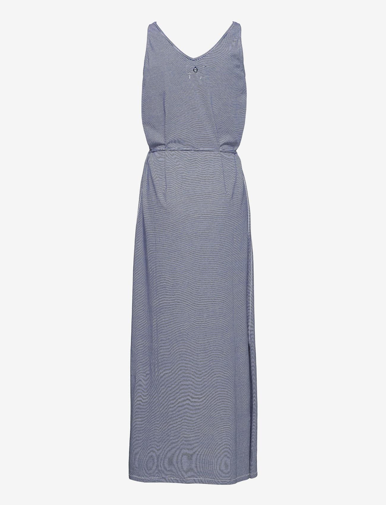 Sebago - DKS Linen Jersey Maxi Dress - sommerkjoler - blue/offwhite - 1