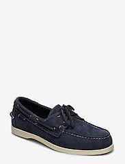 Sebago - Docksides Portland - boat shoes - blue navy - 0