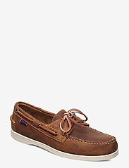 Sebago - Docksides Crazy H - purjehduskengät - brown tan - 0