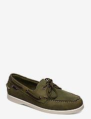 Sebago - Docksides Crazy H - boat shoes - green military - 0