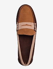 Sebago - Dan Suede Tricolor Polaris - loafers - dk brown/taupe/cogna - 3