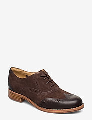 Sebago - Claremont Brouge - buty sznurowane - brown suede/leather - 0