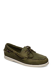 Docksides Crazy H - GREEN MILITARY