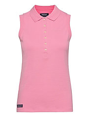 Classic Sleeveless Polo Pique - SEA PINK