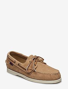 Docksides Portland - buty na łódź - beige camel