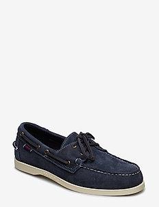 Docksides Portland Suede - chaussure bateau - blue navy