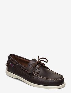 Docksides Portland - buty na łódź - dk brown