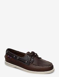 Mapple - boat shoes - cognac blue ny
