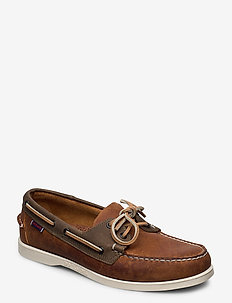 Notch - buty na łódź - brown tan dk grey