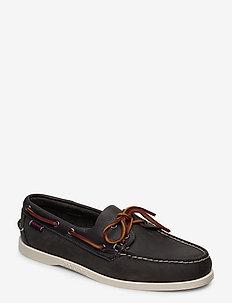 Notch - boat shoes - dk grey ny